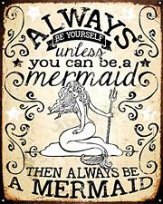 Vintage Mermaid Wall Tin Sign Hanging Decorative Art Bar Room Kitchen Living .