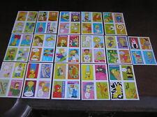 64 simpsons sticker full set  pog tazo picker card folis stickers cards
