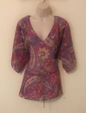 Womans Sheer Cover Up Shirt Size Xl By Chaps Pink Purple