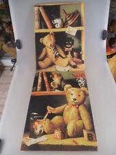 2 dekorative Bilder mit Teddybären Motiv (1998)