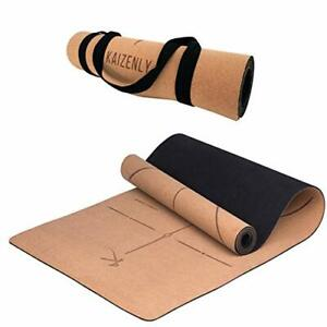 Eco-Friendly Yoga Mat Natural Cork Excellent Grip Thick Hypoallergenic Non Toxic