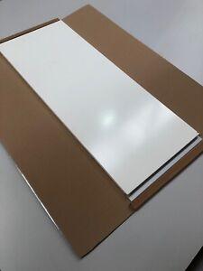 Matt White Cabinet Door With Integrated Aluminium Handle 597mm Widex 1260mm High