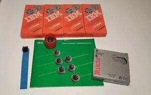 IBM Selectric Lot: Font Ball, Light Italic/ 4 ea, Ribbon 1299095 / Lift-off tape