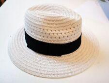 Gorras y sombreros de mujer de color principal blanco de paja