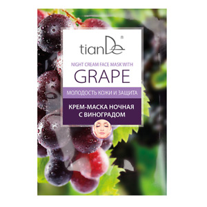 Tiande Grape Facial Night Cream Face Mask with Grape 18g
