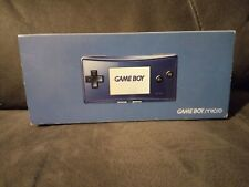 BOX ONLY For Nintendo Gameboy Micro Blue.Not GBA DS