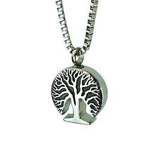 Baum des Lebens Urn Halskette  Gedenk Asche Andenken  Feuerbestattung Schmuck