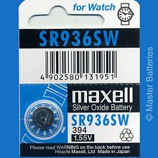 Maxell SR936 Coin/Button Cell Sub-Type Watch Batteries