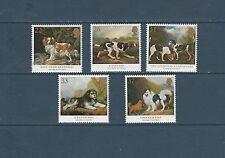 Grande-bretagne  chiens tableaux animaliers   1991  num: 1511/15 **