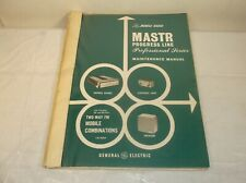 GE MASTR PROGRESS LINE PROFESSIONAL SERIES INSTRUCTION MAINTENANCE MANUAL