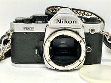 Analog Reflex SLR 35mm Film Camera NIKON FM2 Body + STRAP/CAP/Batteries/MANUAL