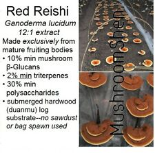 Reishi 12:1 Mushroom Extract Powder 10%+ Beta Glucans 2%+ triterpenes