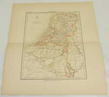 1881 Antique COLOR Map/HOLLAND