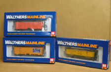 Walthers HO Three 40' Reefers, 1 DS & 2 Steel, MILW, Kansas Packing & NWR
