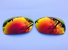 ENGRAVED POLARIZED FIRE RED MIRRORED REPLACEMENT OAKLEY HIJINX LENSES