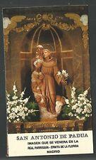 Estampa de San Antonio de Padua andachtsbild santino holy card santini