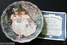 Blossoms of Love Plate by Sandra Kuck Treasured Moments Collection  COA 4157B