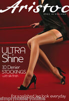 Aristoc Ultra Shine Gloss Stockings + Silk Finish 10 Denier High Shine Glossy
