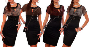 Womens Two-Colour Bodycon Dress with Belt and Print Elegant Fitted Tunic 4024