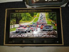 FORD HOLDEN BATHURST 50TH YEAR GREATEST RACE NEVER DRIVEN PRINT BROCK