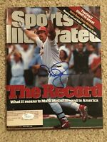 MARK MCGWIRE Signed 9/14/98 1998 Baseball Sports Illustrated JSA WP22652
