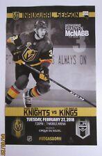Vegas Golden Knights vs Los Angeles Kings Poster Brayden McNabb Spelling Error