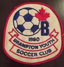 1980 Brampton Canada Youth Soccer Club Patch