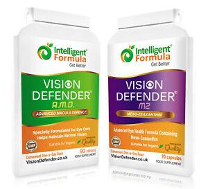 VISION DEFENDER Vegan Macular Eye Vitamins AREDS2 Formula AMD + Meso-Zeaxanthin