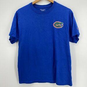 Champion T-Shirt Men's M Blue Florida Gators Football NCAA Logo