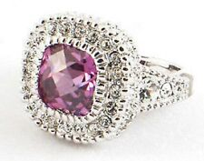 Sterling Silver Victorian Style Amethyst Ring Size 7