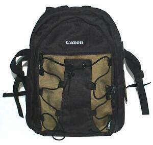 NEW Canon Deluxe Camera Photo Backpack 200 EG Storage Bag DSLR Olive & Black