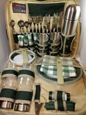 Concept Picnic Pack Set For 4 Includes Plates Thermos Bowls Utensils Cups & More
