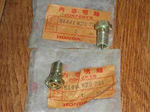 2x Honda CR500R CR250 CR250R CR125 CR125R 1991 Lower Fork Bolt Damping Adjuster