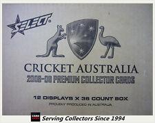 2008-09 Select Cricket Trading Cards Factory Case (12 Boxes + Case Card)