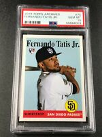 FERNANDO TATIS JR 2019 TOPPS ARCHIVES #75 ROOKIE RC PSA 10 PADRES