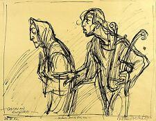 KLAUS DRECHSLER - Orpheus und Eurydike - Federzeichnung 2002