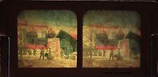 Exposition universelle de Paris Rue de Hué Diorama colorié Tissue Vintage 1889