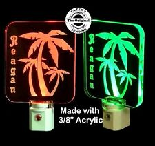 Personalized Palm Tree LED Night Light - Palm Trees - Lamp