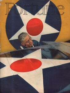 1941 Fortune August cover only - Corsair wing insignia