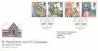 11 MARCH 1997 MISSIONS OF FAITH ROYAL MAIL FIRST DAY COVER ISLE OF IONA SHS