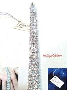 Bracciale Donna SWAROVSKI ORIGINALI Rodiato Argento 925 Cristalli Gioielli oro