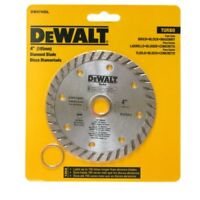 "DEWALT 4"" Diamond Blade Turbo DW47400L Dry Cutting Arbor 7/8"" & 5/8"""