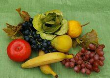 Soft Plastic Rubber Grape, Banana, Lettuce, Artificial Fruit Props