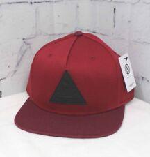 47800eb41cb8c 2018 Neff X 2 Cap Snapback Flat Brim Baseball Hat Maroon burgundy