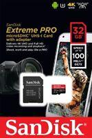 SanDisk 32GB Extreme Pro 100MB/s MicroSD MicroSDXC UHS-I  Memory Card