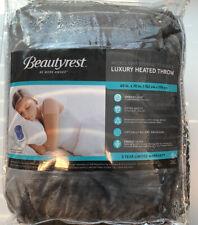 Beautyrest Luxury Gray Heated Throw 60in X 70in Blanket