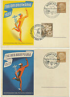 DT.REICH 1939 Tag der Briefmarke zwei verschiedene Sonderkarten des Reichsbund