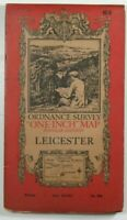 1921 Old Vintage OS Ordnance Survey Popular Edition One-Inch Map 63 Leicester