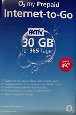 o2 Go Prepaid Sim inkl. 30GB Internet Data Jahrespaket 365 Tage LTE MAX 3in1-SIM