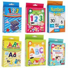 Kids Flash Cards Educational Learning Flashcards Numbers Alphabet Words Maths